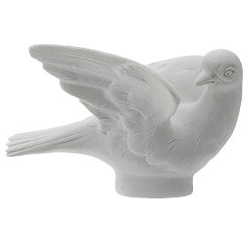 Dove facing right, 8 cm reconstituted marble statue s1