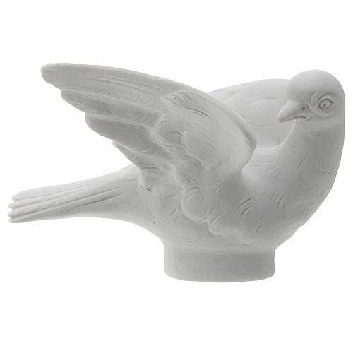 Dove facing right, 8 cm reconstituted marble statue 1