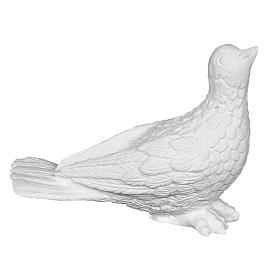 Colomba 11 cm marmo sintetico s1