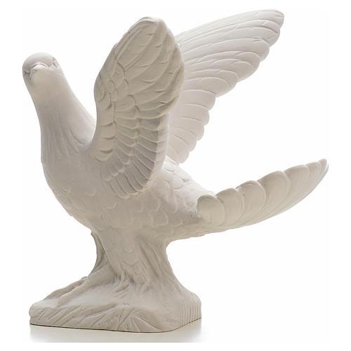 Colombe ailes ouvertes 25 cm marbre