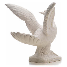 Dove with open wings statue in composite marble, 25 cm s3