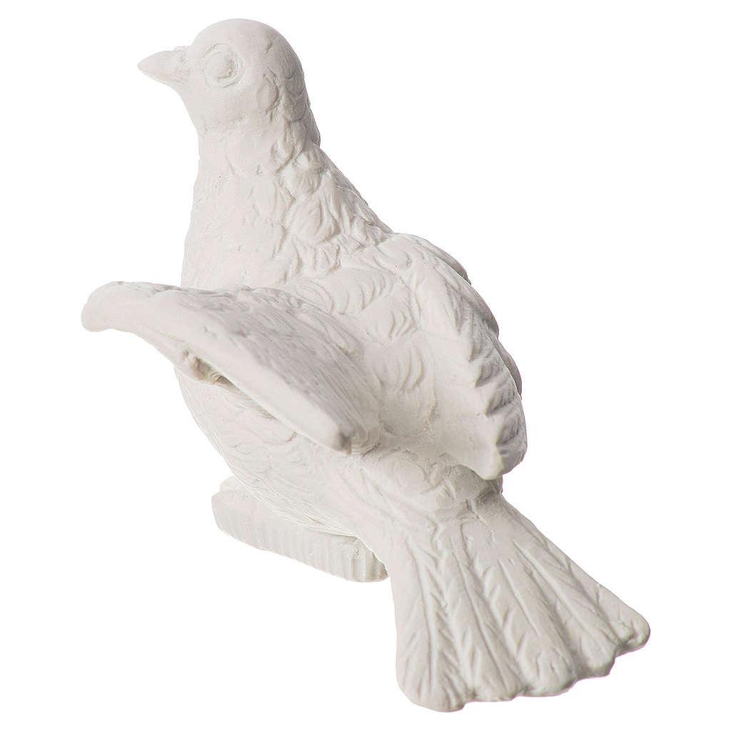 Statue extérieur colombe 16 cm marbre 4