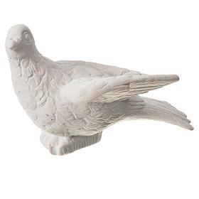 Imagens em Pó de Mármore de Carrara: Pomba 16 cm pó de mármore de Carrara