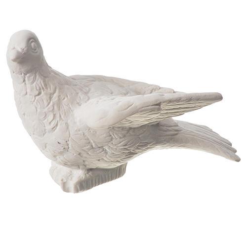 Dove statue in reconstituted carrara marble, 16 cm 1