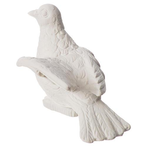 Dove statue in reconstituted carrara marble, 16 cm 3