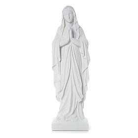 Statua Madonna di Lourdes marmo applicazione 60-85 cm s1