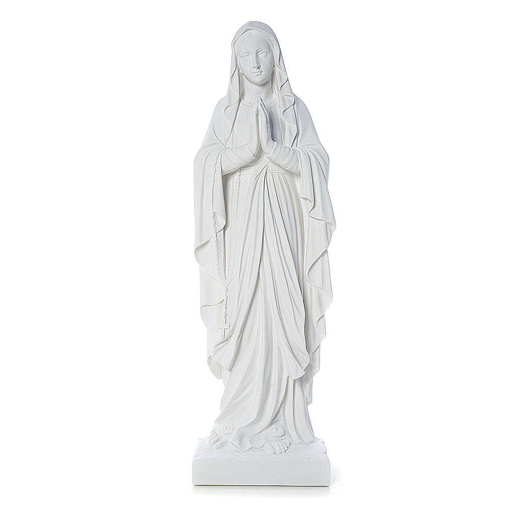 Our Lady of Lourdes bas-relief in reconstituted marble 60-85 cm 3