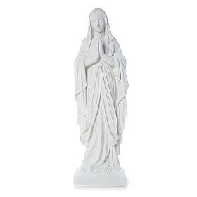 Our Lady of Lourdes bas-relief in reconstituted marble 60-85 cm s1