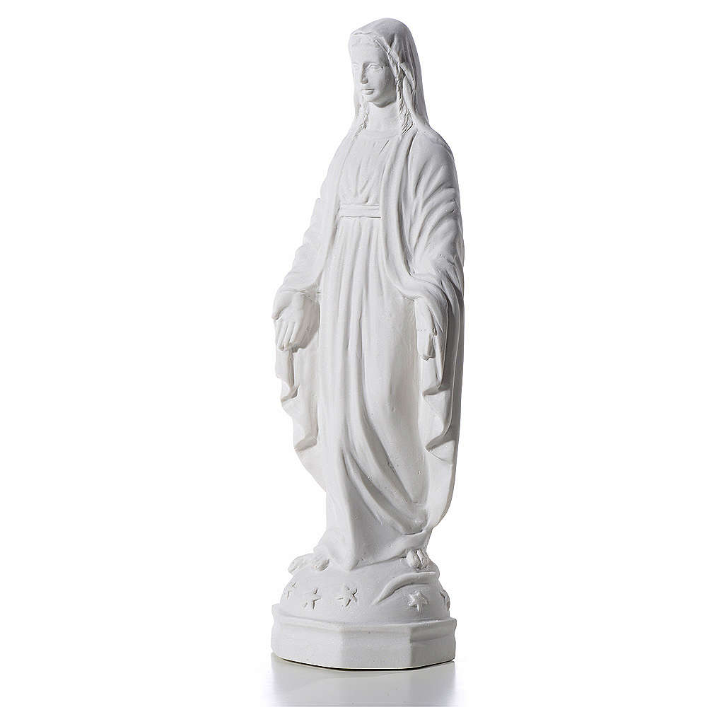 Our Lady Immaculate bas-relief, reconstituted marble, 30cm 3