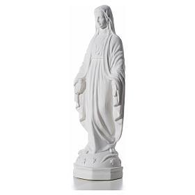 Virgen Inmaculada 30 cm Relieve Polvo de Mármol s6
