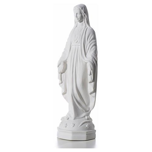 Virgen Inmaculada 30 cm Relieve Polvo de Mármol 6