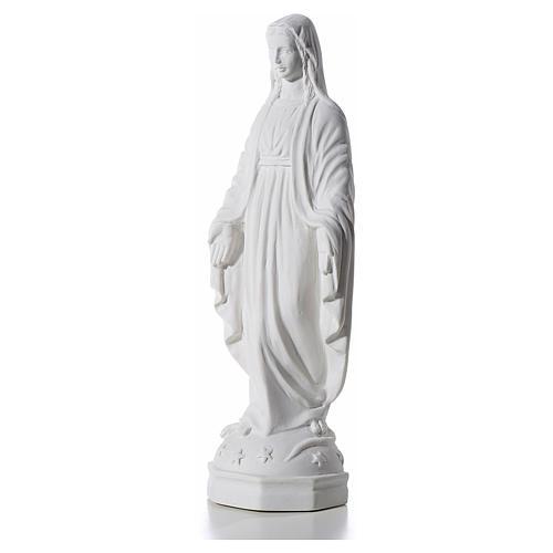 Virgen Inmaculada 30 cm Relieve Polvo de Mármol 2