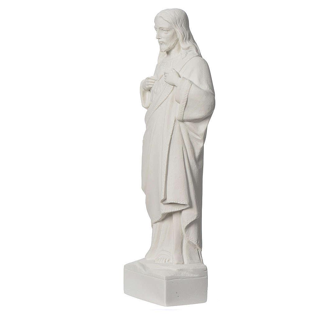 Statua applicazione Sacro Cuore di Gesù 30 cm marmo 3