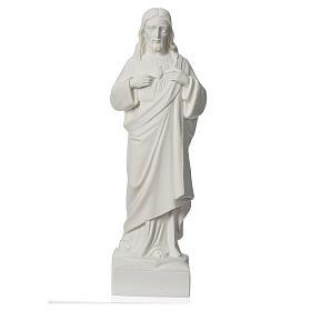 Statua applicazione Sacro Cuore di Gesù 30 cm marmo s1