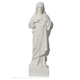 Sacred Heart of Jesus applique in reconstituted marble s1