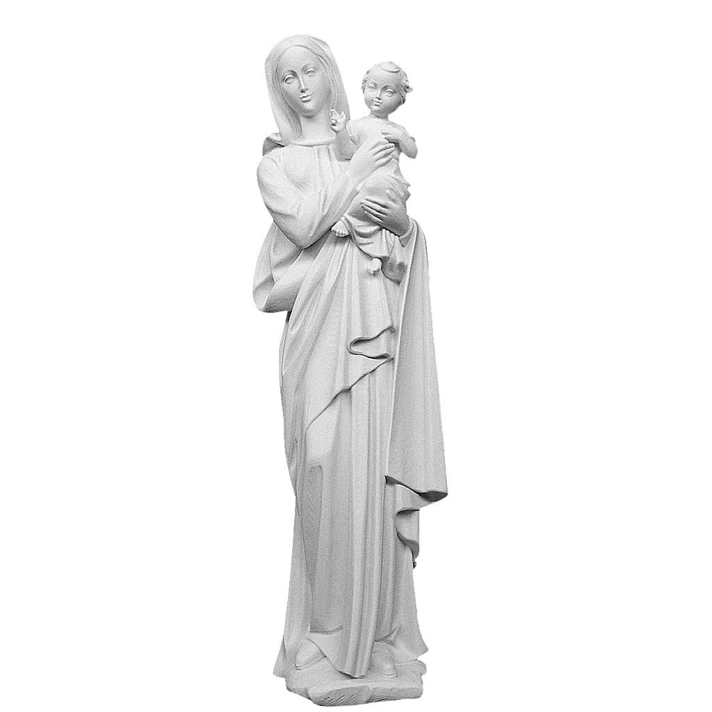 Our Lady with Child appliquè, reconstituted marble, 62 cm 3
