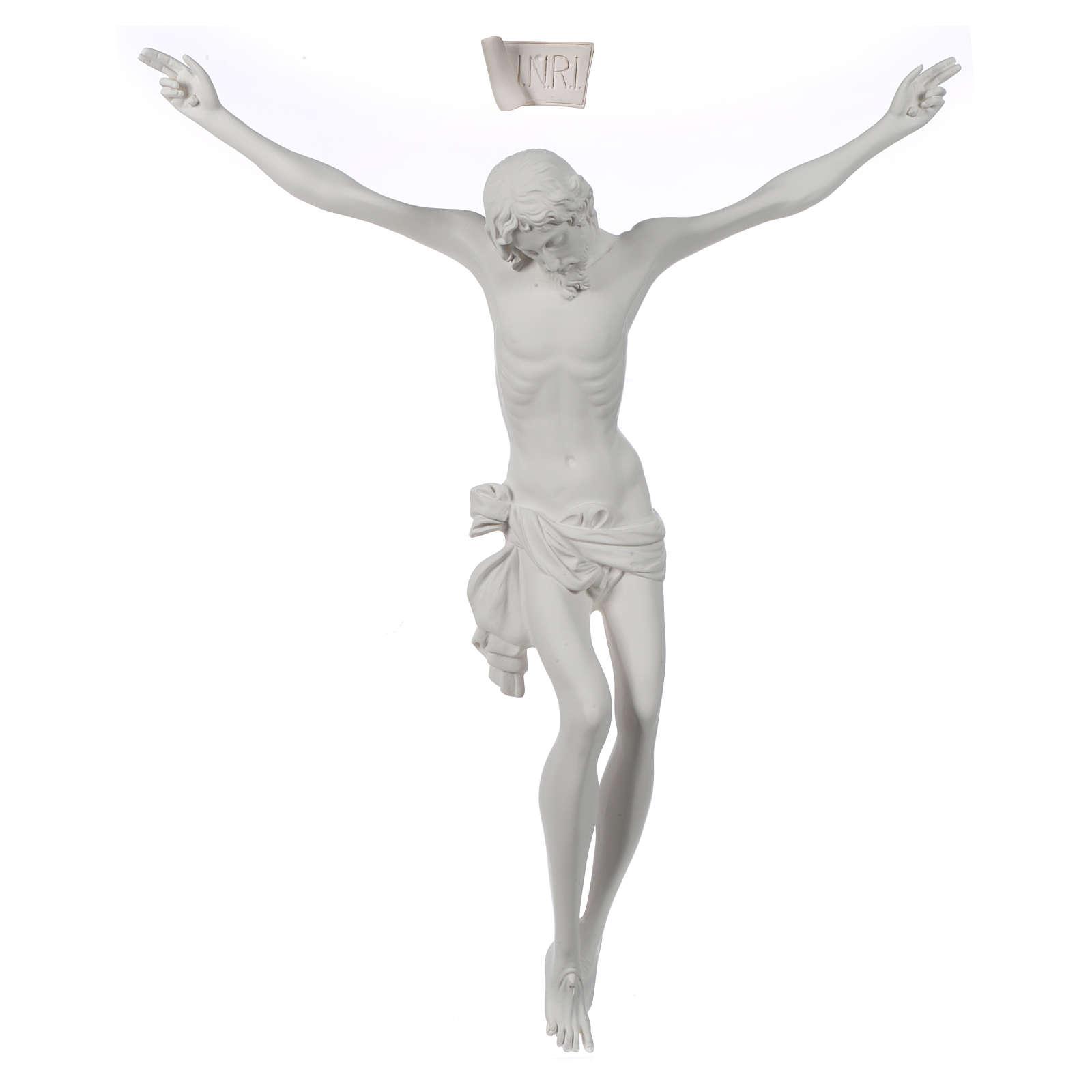 Crocefisso targa in polvere di marmo bianco 4