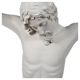 Crocefisso targa in polvere di marmo bianco s3