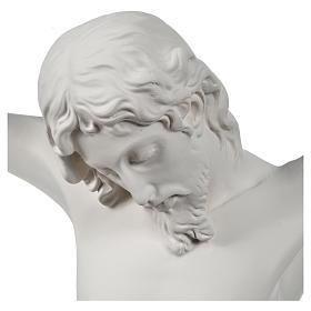 Crocefisso targa in polvere di marmo bianco s6