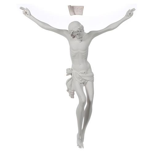 Crocefisso targa in polvere di marmo bianco 2