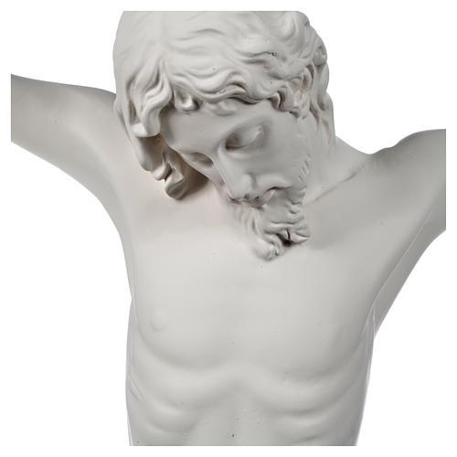 Crocefisso targa in polvere di marmo bianco 3