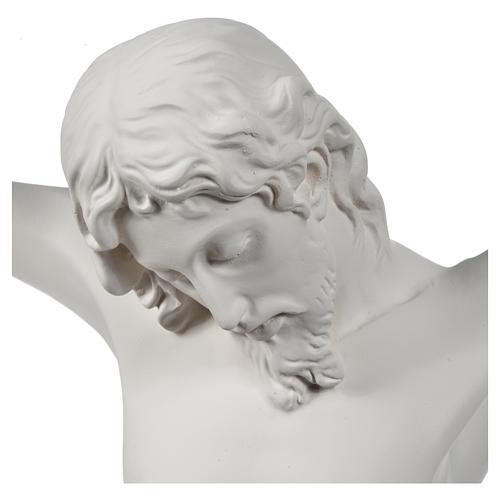 Crocefisso targa in polvere di marmo bianco 6