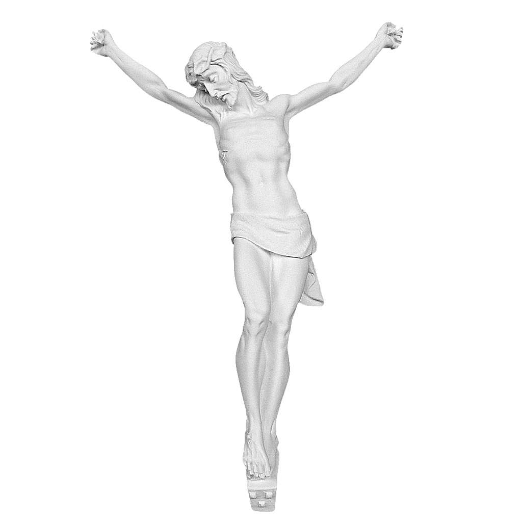 Christ's body in reconstituted carrara marble 50 cm 4