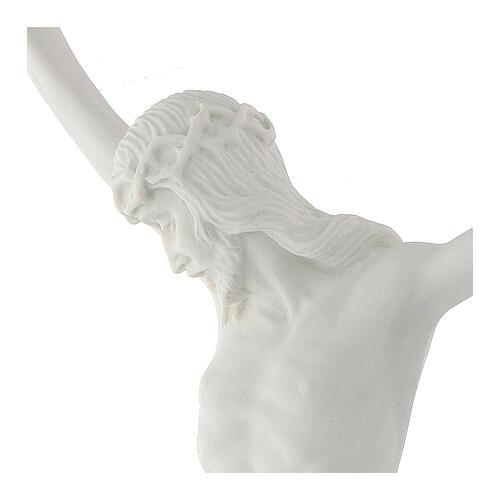 Cuerpo de Cristo de mármol sintético 50 cm