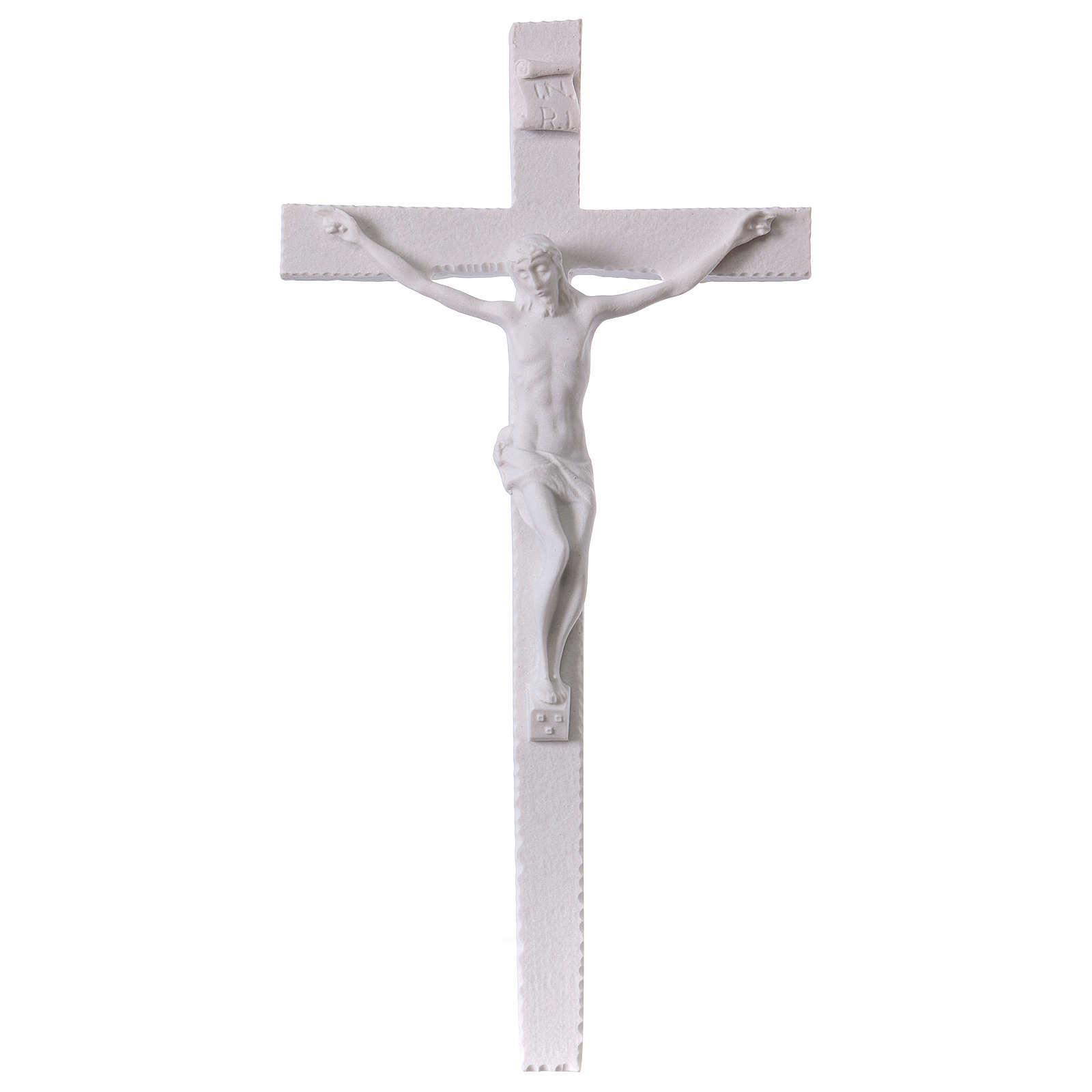 Crucifix made of reconstituted carrara marble 25-31-43 cm 4
