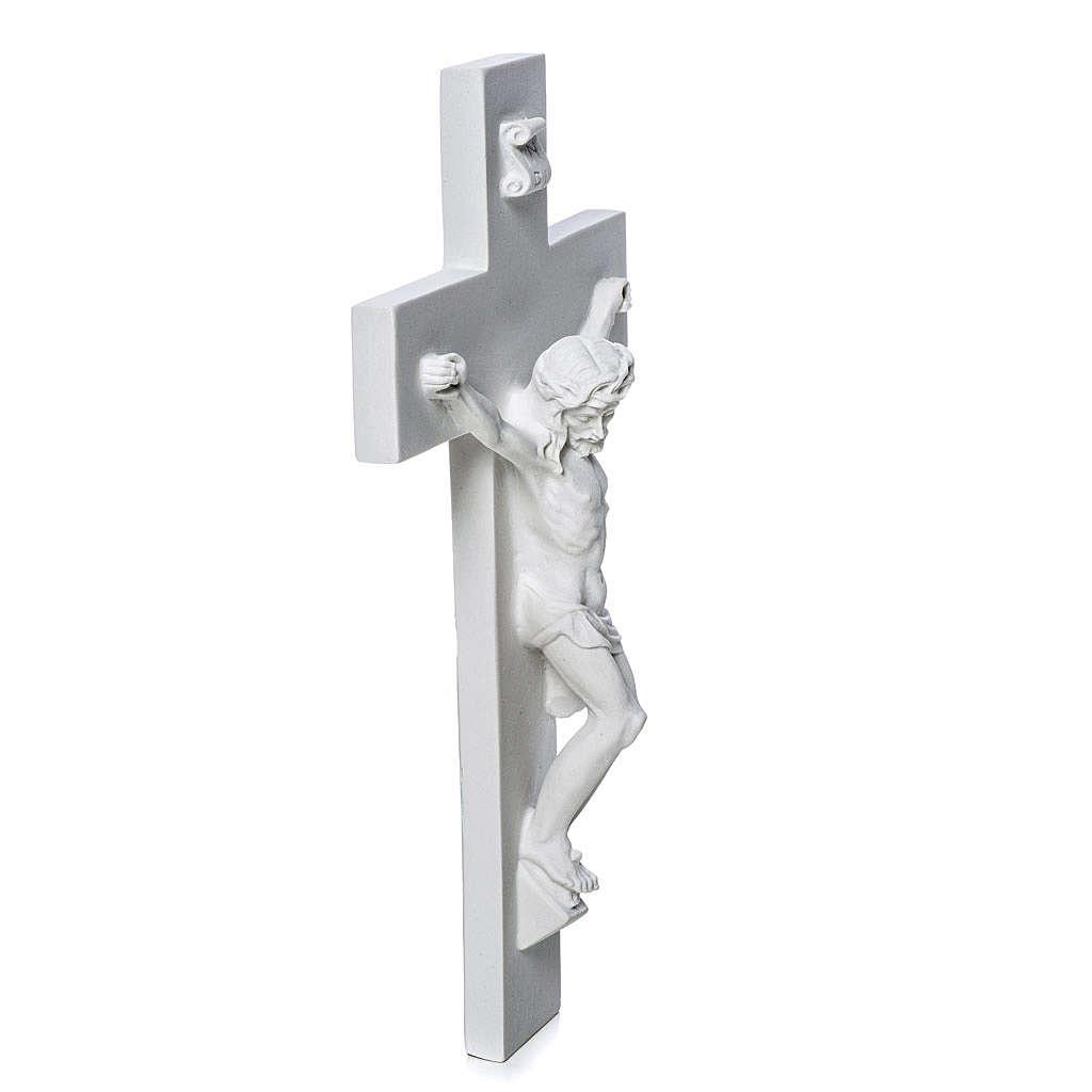 Crocifisso in marmo sintetico 25-31-43 cm 4