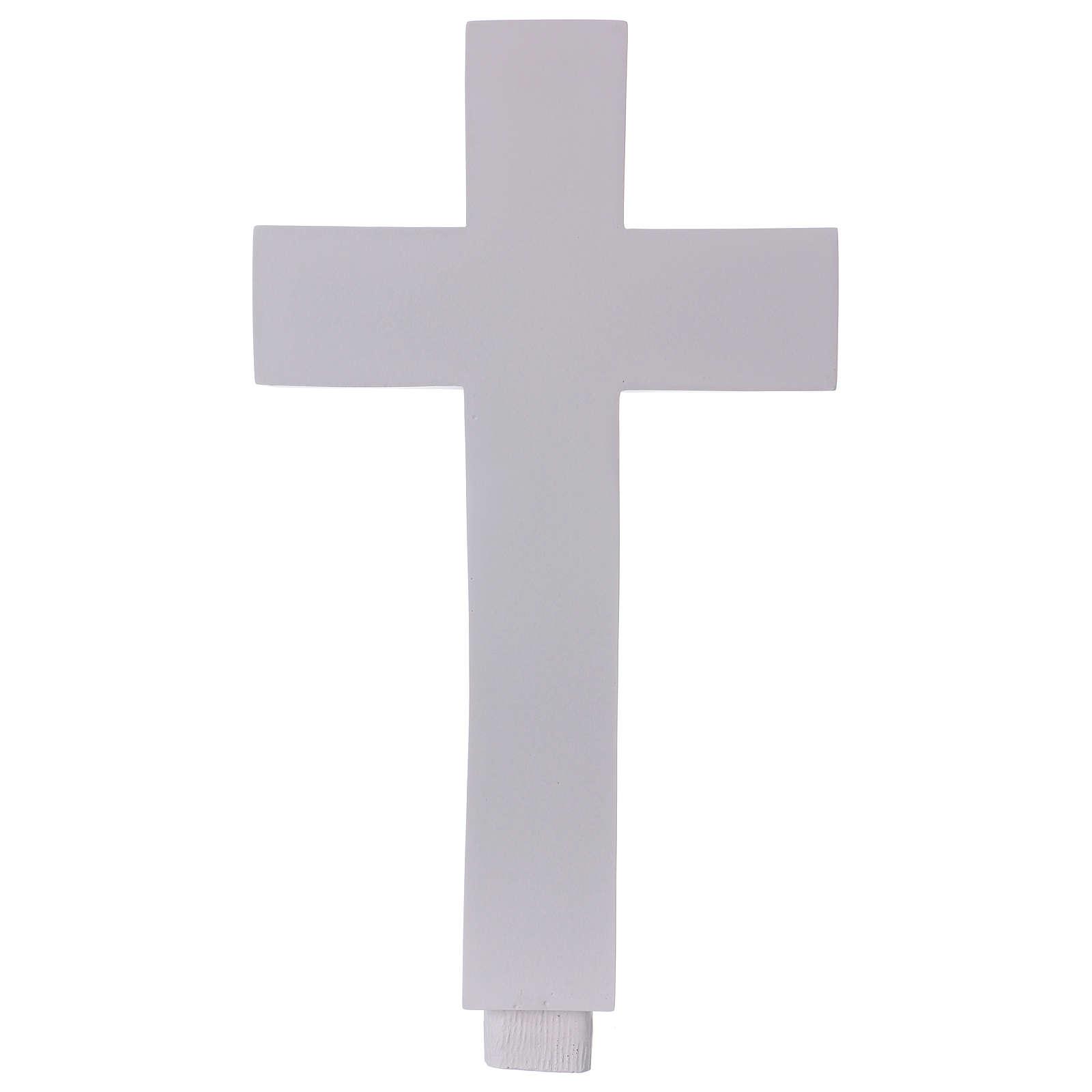 Cross appliquè in reconstituted Carrara Marble, 62 cm 4