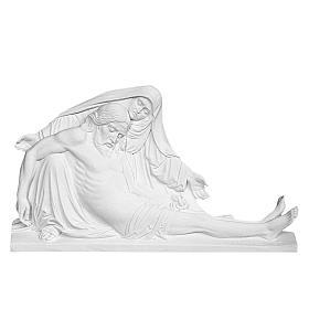 Bas relief Pietà de Michel-Ange 50 cm marbre blanc s1