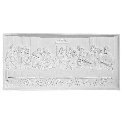 Last Supper 35x73 cm reconstituted marble bas-relief 1