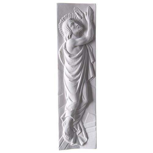 Bas relief Christ ressuscité marbre 55x16 cm 1