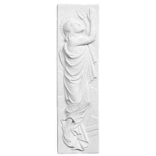 Risen Christ, 55x16 cm reconstituted marble bas-relief 1