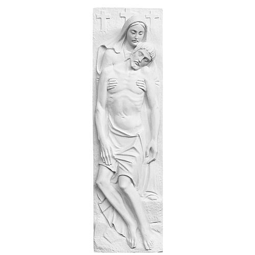 Bas relief Pietà de Michel-Ange marbre 55x16 cm 1