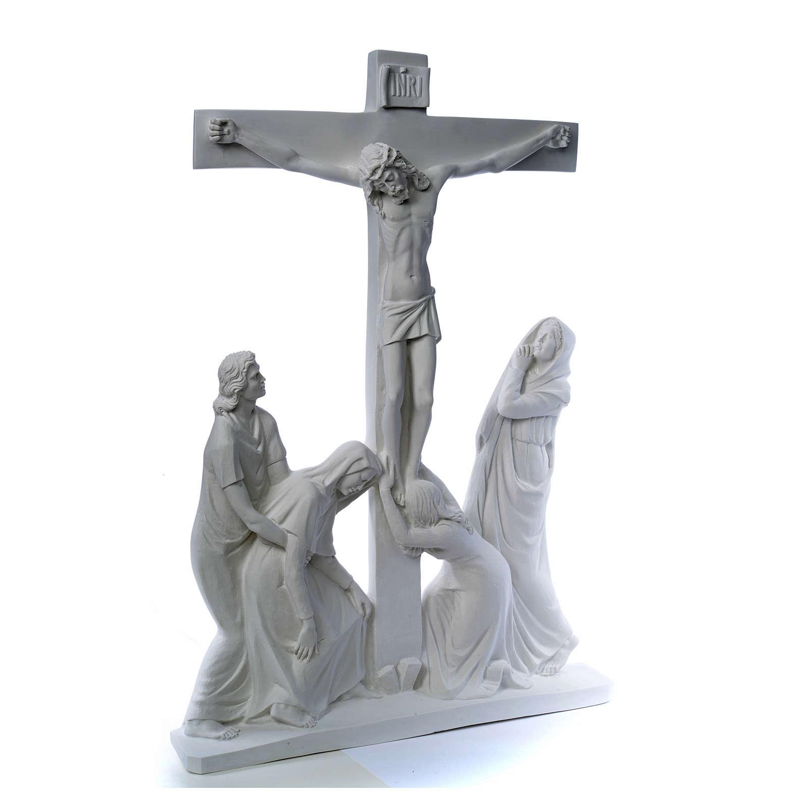 Escena de la crucifixión, mármol sintético 3