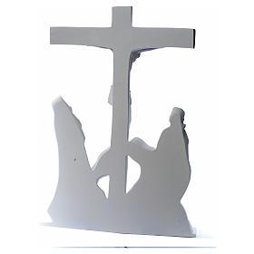 Escena de la crucifixión, mármol sintético s12
