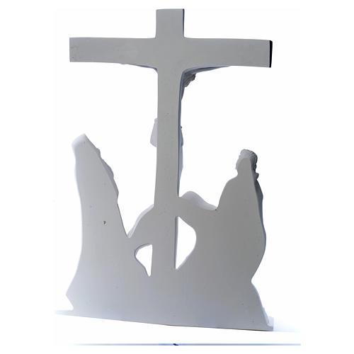 Escena de la crucifixión, mármol sintético 12