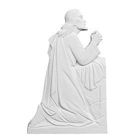 Cristo in preghiera rilievo marmo sintetico 46 cm s1