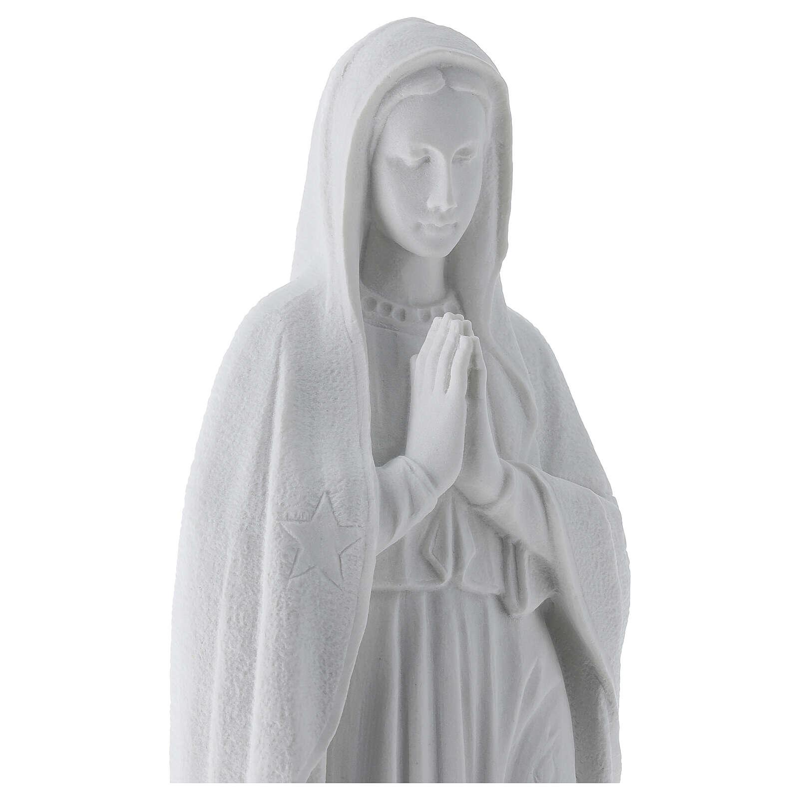 Madonna di Guadalupe 45 cm statua marmo bianco 4