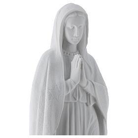 Madonna di Guadalupe 45 cm statua marmo bianco s2
