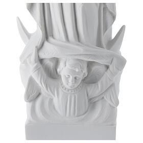 Madonna di Guadalupe 45 cm statua marmo bianco s4