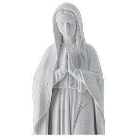 Madonna di Guadalupe 45 cm statua marmo bianco s6