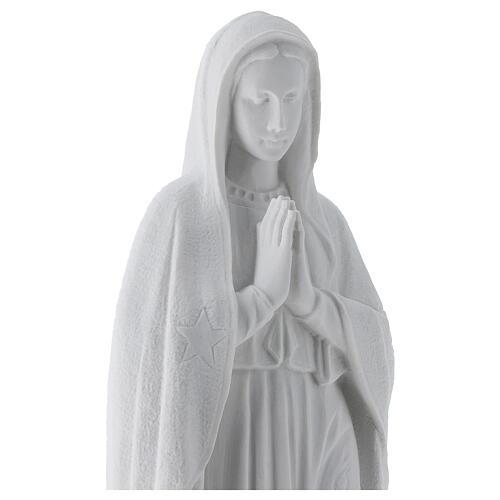 Madonna di Guadalupe 45 cm statua marmo bianco 2