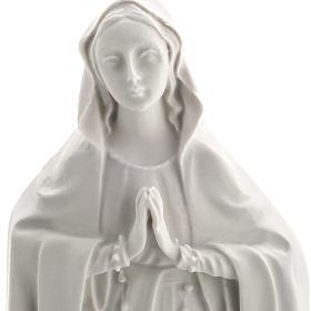 Notre Dame de Lourdes bas relief 42 cm marbre blanc s2