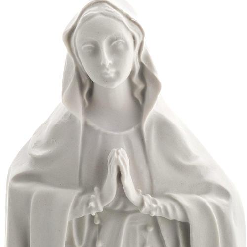 Notre Dame de Lourdes bas relief 42 cm marbre blanc 2