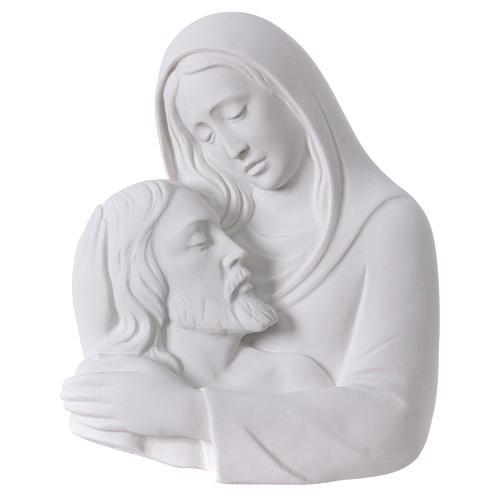 Relief Pietà Vordergrund Marmorpulver 23-35 cm