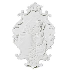 Virgen de la Ferruzi con marco 31cm en relieve s1