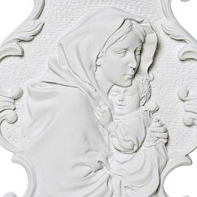 Virgen de la Ferruzi con marco 31cm en relieve s2